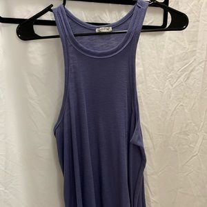 Free People flowy muscle tank blue ribbed